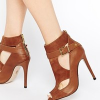 Supertrash Amber Leather Cut Out Shoes