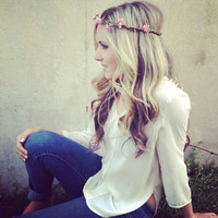 COACHELLA HAIR WREATHES Mini Pink Blossoms by 2sisters1closet