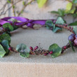 Grape Vineyard Flower Crown - grapevine crown adorned with grape leaves, grape clusters and tiny berries - Photo Prop - Winery Floral Halo