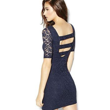 Lace Banded Back Bodycon Dress