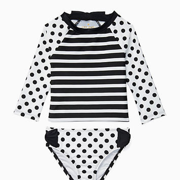 toddlers' rash guard two piece