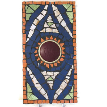 Wall Art hanging Mosaic Tile Mexican Sun Home by Margalita on Etsy