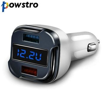 Dual USB Quick Car Charge 2.0 5V 2.4 or 9V 1.5A and QC2.0