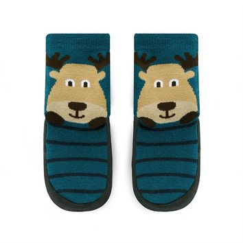 Jumping Beans Moose Slipper Socks - Toddler