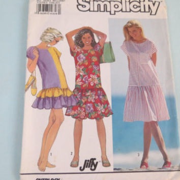 Vintage Simplicity sewing pattern 9747 size A all sizes inc. misses miss petite pull over dress