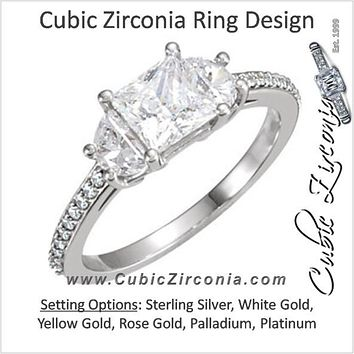 Cubic Zirconia Engagement Ring- The Julianna