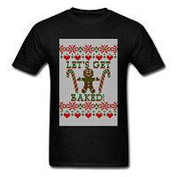 Let's Get Baked - Funny Men's T-shirt - CannaChristmas & CannaComedy Collections