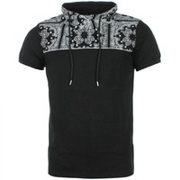 Tee Shirt Col Amplified Gov Denim D816 Noir Bandana - LaBoutiqueOfficielle.com