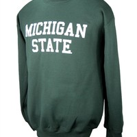 Green Michigan State Crew neck Sweatshirt