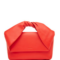 Twisted Leather Clutch