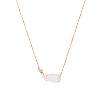 Kendra Scott Barbara Necklace in Rose Gold & Mother of Pearl | REVOLVE