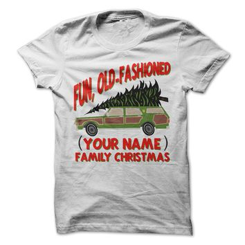 Custom Fun Old-Fashioned Family Christmas