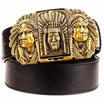 Native American Metal Belts Buckle Lighter