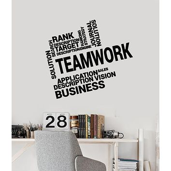 Vinyl Wall Decal Teamwork Business Office Space Decor Solution Vision Stickers Mural (g703)