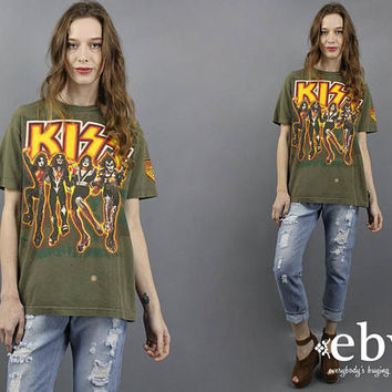 Kiss T Shirt Vintage T Shirt Vintage Tee Kiss Tee 90s Kiss Shirt Distressed Band Shirt Rock n Roll T Shirt Kiss Army Kiss Fan Gift M