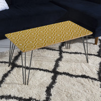 Heather Dutton Trevino Yellow Coffee Table