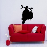 Scooter Bike Moped Motorcycle Wall Vinyl Decal Art Design Murals Interior Decor Sticker SV652