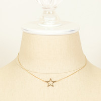 70's__Vintage__Dainty Star Charm Necklace