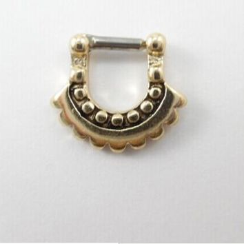 2015 Belly Button Rings 1 Pcs/lot Surgical Steel Cz For Clicker Small Hoop Septum Jewelry Nose Ring Body Piercing Many Styles