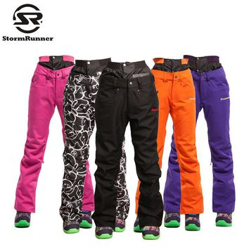 StormRunner winter snow ski pants for woman windproof waterproof outdoor trousers