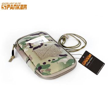 EXCELLENT ELITE SPANKER Women EDC Zipper Hunting Pouch Military Nylon Wallet Pouch Tactical Sport Travel Hunting Bags