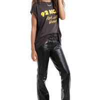 Vintage 90's Does 70's Coyote Ugly Vegan Leather Flares - XS