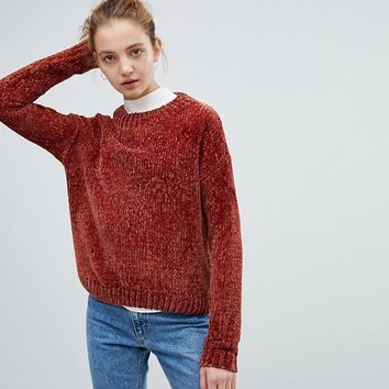 Daisy Street Relaxed Sweater In Chenille at asos.com