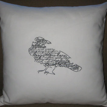 Wordy Bird The Raven Edgar Allan Poe by uptowngirlembroidery