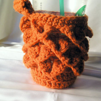 Coffee Cup Cozy in Orange