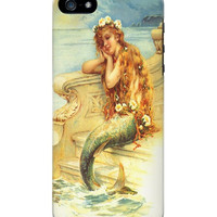 Vintage Cell Phone Case. Mermaid Beauty.   I Phone 4, I Phone 5, Galaxy 3, Galaxy 4