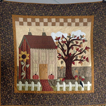 Quilted Wall Hanging Autumn Home Sweet Home