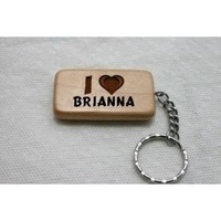 Wooden keychain with I Love Brianna (first name/surname/nickname)
