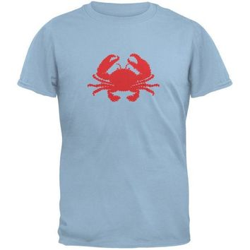 CREYCY8 Summer - Crab Faux Stitched Light Blue Youth T-Shirt
