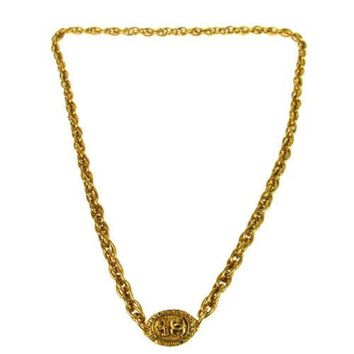 Chanel Thick Chain Logo Necklace