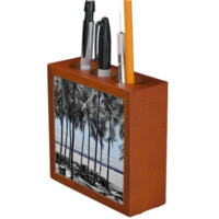 Palm Trees On The Ocean Desk Organizer