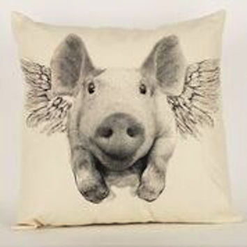 Flying Pig Pillow Medium
