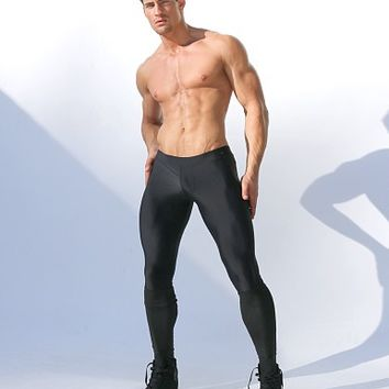 Rufskin Tom of Finland Thorpe Leggings with Latex Black THORPE at International Jock Underwear & Swimwear