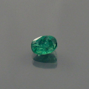 Emerald: 0.57ct Green Oval Shape Gemstone, Natural Hand Made Faceted Gem, Loose Precious Beryl Mineral, Cut Crystal AAA Jewelry Supply 20080