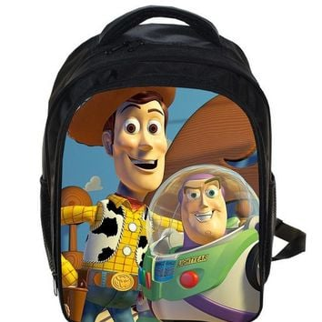 13 Inch Toy Story Buzz Lightyear Woody School Bags For Boys Girls Cartoon School Kids Backpack Children Mochila Gift