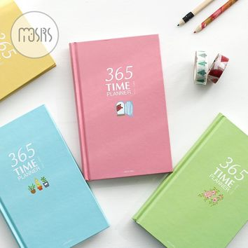 Korean 365 Day Personal Diary planner Notebook Shool Organize Agenda Note book 112 sheets Notepads office school supplies gift