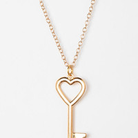 Urban Renewal Key To My Heart Necklace