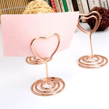 Desk top standing paper clip with base metal wine Color plated memo clips height 50/85/220mm modeling shaped photo clips holder