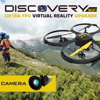 U818A Wifi FPV Drone w/ Altitude Hold   HD Camera and Live Video + Remote Control   For Aerial Photography, Easy to Fly for Expert Pilots & Beginners   Bonus VR Headset + Power Bank   Great Gift Idea