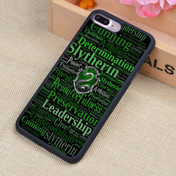 Slytherin Harry Potter Printed Soft TPU Protective Shell Skin Phone Case For iPhone 6 6S Plus 7 7 Plus 5 5S 5C SE 4S Back Cover