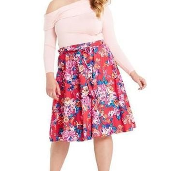 Walk In The Garden Midi Skirt