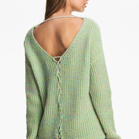 Love by Design Lace Back Sweater (Juniors) | Nordstrom