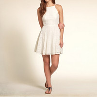 Strappy Lace Skater Dress