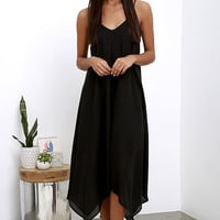 Your Love Black Midi Dress