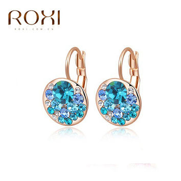 Roxi Classic Gold Plated Crystal Stud Earrings For Women 2020207390