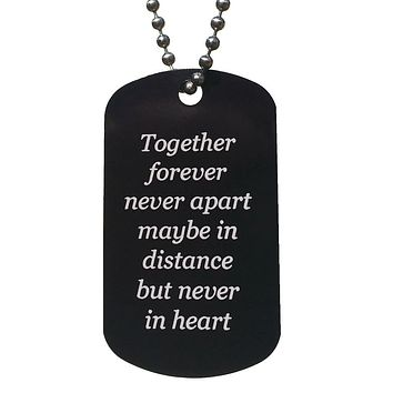 Together Forever Never Apart Dog Tag Necklace